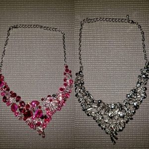 Pink emerald necklace